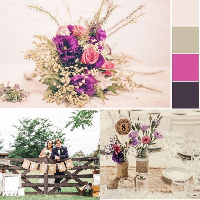 ¿Qué tal esta paleta de colores para tu matrimonio? 1