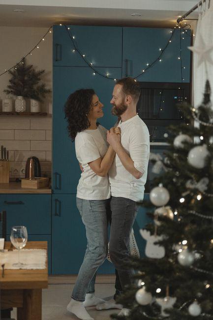 ¿Qué foto pre boda navideña tendrías? 2