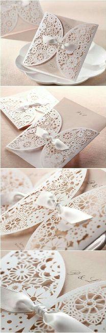 Modelos de tarjetas para bodas elegantes o vintage - 4