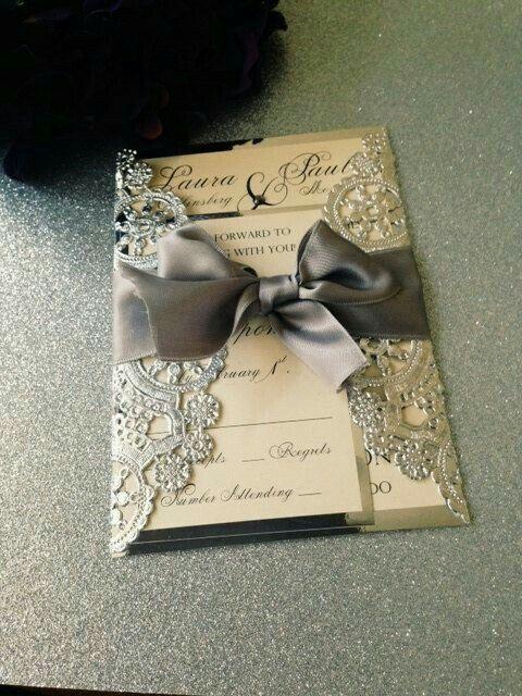 Modelos de tarjetas para bodas elegantes o vintage - 7