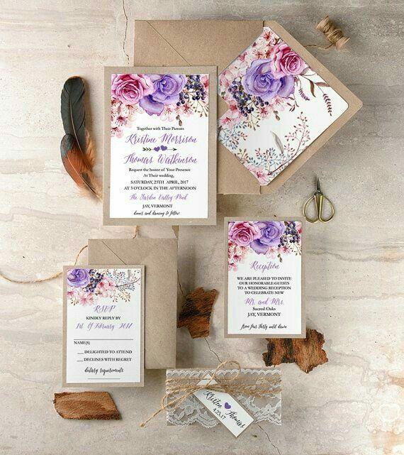 Modelos de tarjetas para bodas elegantes o vintage - 10