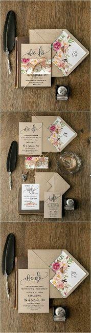 Modelos de tarjetas para bodas elegantes o vintage - 11