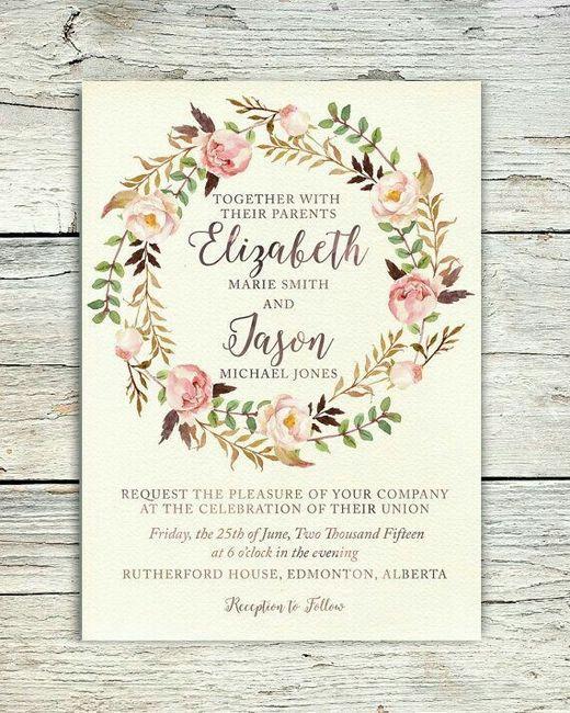 Modelos de tarjetas para bodas elegantes o vintage - 14