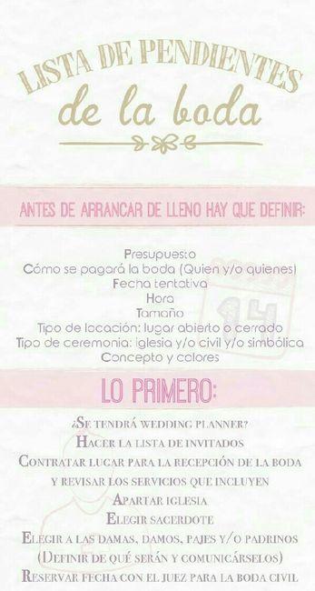 Lista de tareas para organizar la boda - Organizar una boda ...