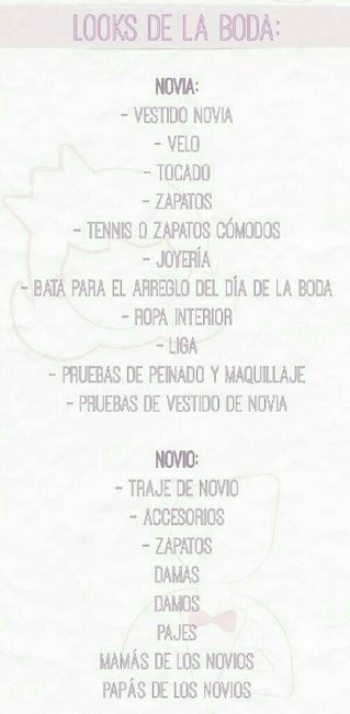 Lista de tareas para organizar la boda - Cosas para preparar una boda ...