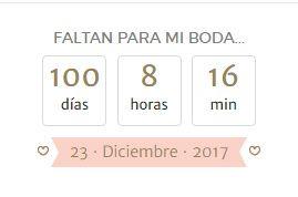 A 100 días de mi Gran Día