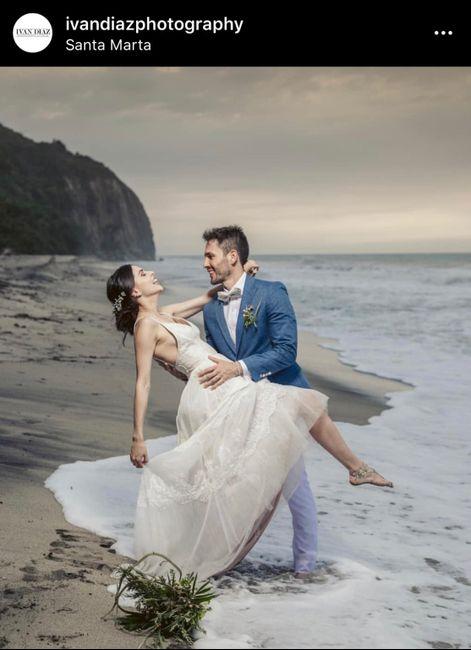 Ma. Angélica mi matrimonio en 3 imágenes ☀️🌊💙 - 2