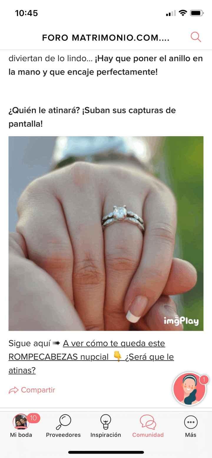 ¿Podrás poner el anillo en su mano? - 1