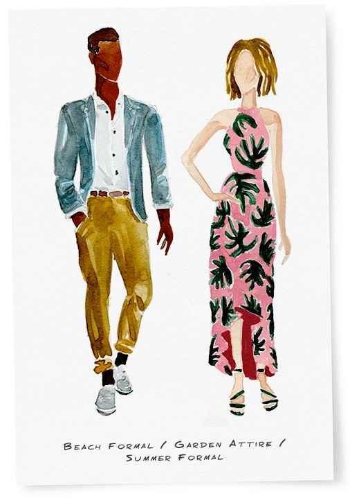 Ideas de etiqueta de vestir para mujer en matrimonio playa - 1