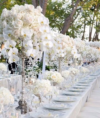 boda estilo glamurosa - centros de mesa