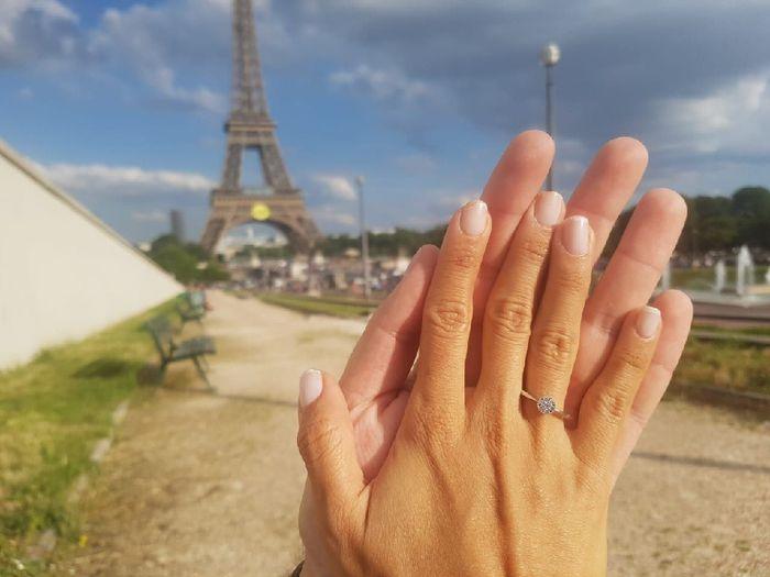 ¿De qué color tenías las uñas cuando te dieron el anillo de compromiso? 8