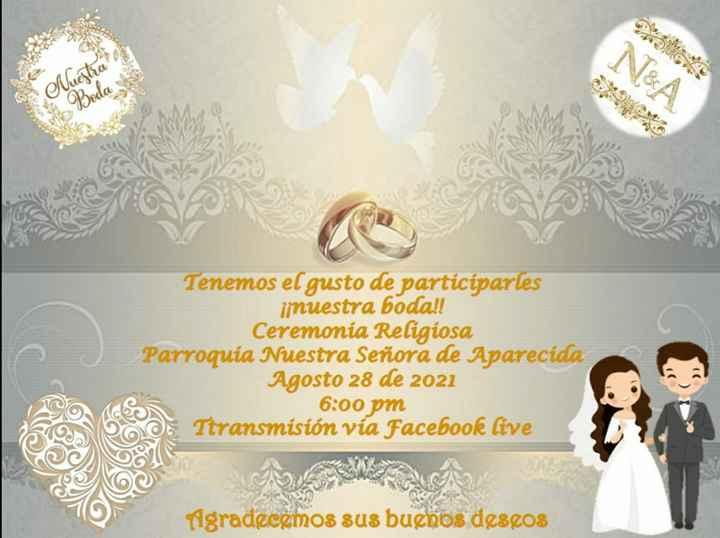 Participación de nuestra boda - 1