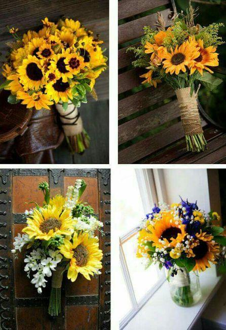 Decoracion con girasoles for Adornos para bodas con plantas