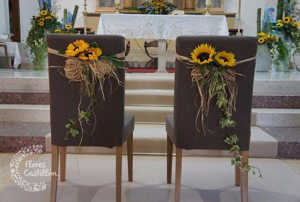 Matrimonio Rustico Santiago : Decoración de la iglesia para una boda rústica o campestre
