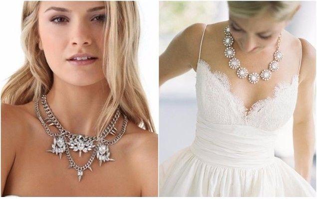 joyas según el escote del vestido