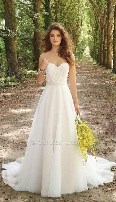 boda al aire libre de día- vestido novia