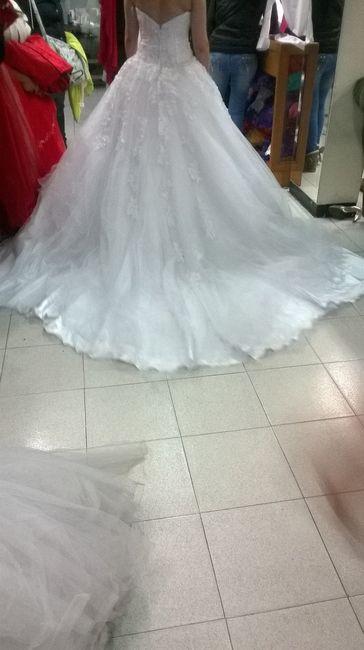 Mi hermoso vestido de novia :)