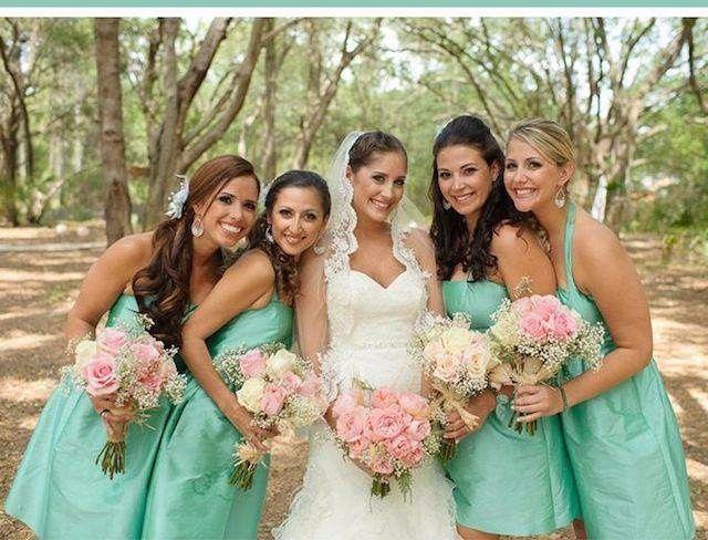 Decoración de boda rosa y verde menta - Boda elegante y alegre 10