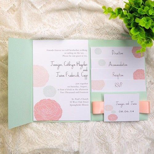 Decoración de boda rosa y verde menta - Boda elegante y alegre 8