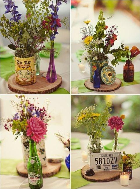 Decoraci n de bodas con material reciclado y ecol gico for Decoracion vintage reciclado