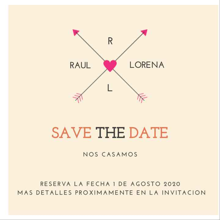 Voten por favor por mi save the date - 2