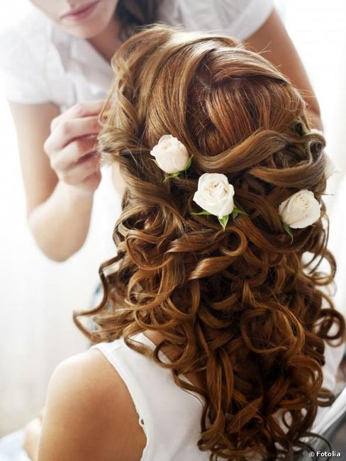 Peinados de novia recogido o semirecogidos - Peinados de boda semirecogidos ...
