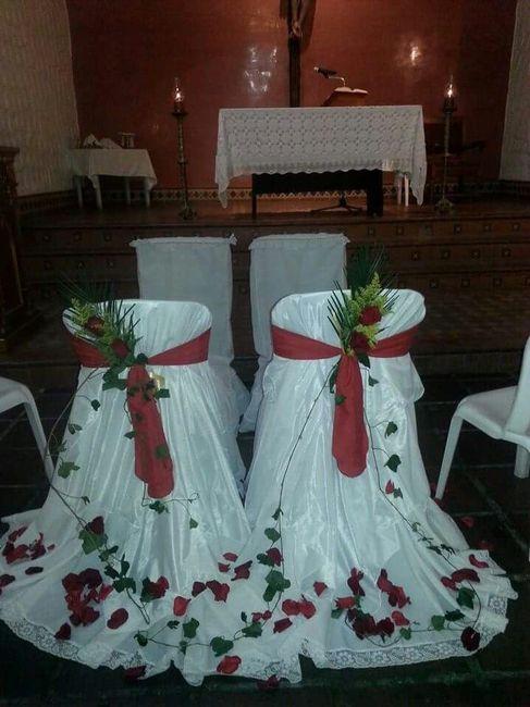 Decoracion sillas de los novios en la iglesia p gina 2 for Sillas para novios