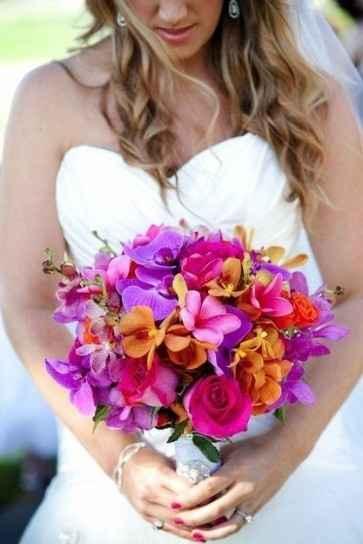 colorido ramo de novia para el verano