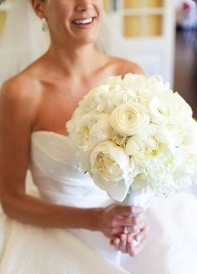 ramo de novia en color blanco