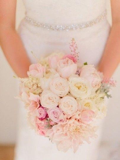 ramo de novia en color rosa