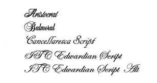 Letra para las invitaciones de boda