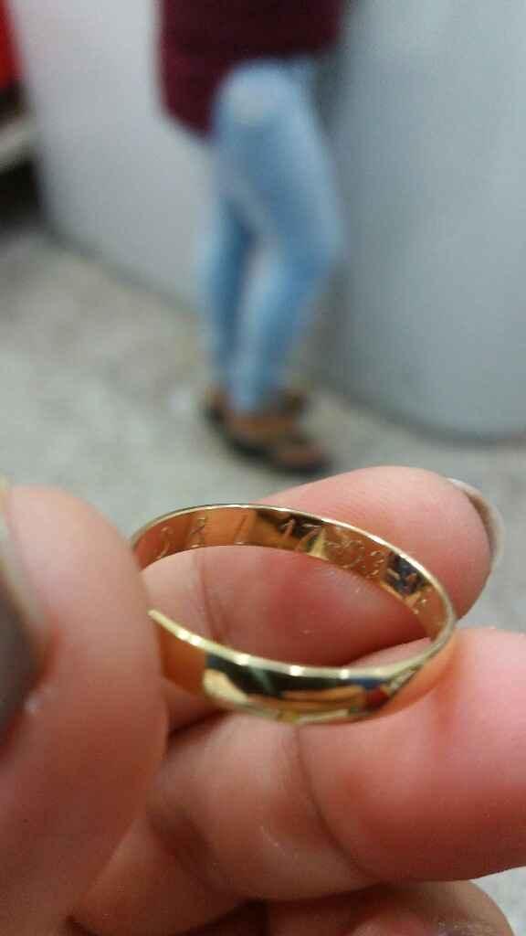 Nuestras argollas de matrimonio - 2