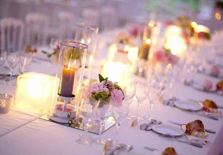 Decoración mesas y flores