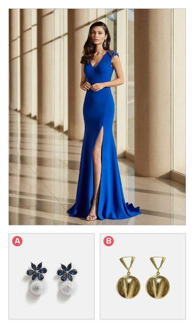 ¿Qué aretes le pones a este vestido? 1
