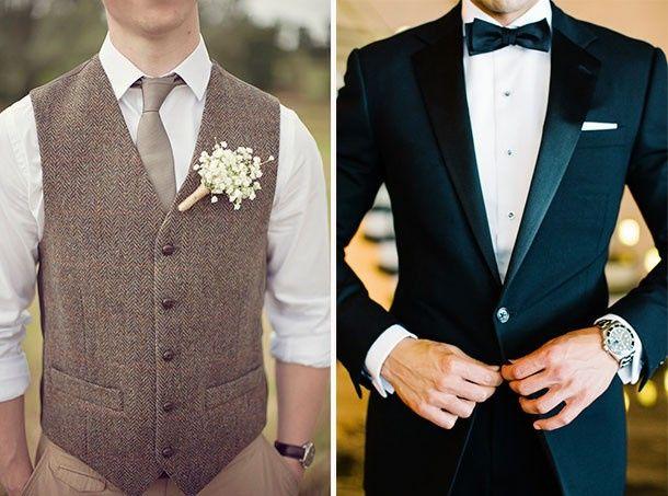 Traje de novio, corbatin, corbata inglesa o corbata tradicional. ¿Cuál te llama la atención? 1