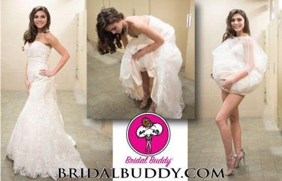 ¿Te has imaginado como ir al baño con tu vestido de novia en tu Gd? 3