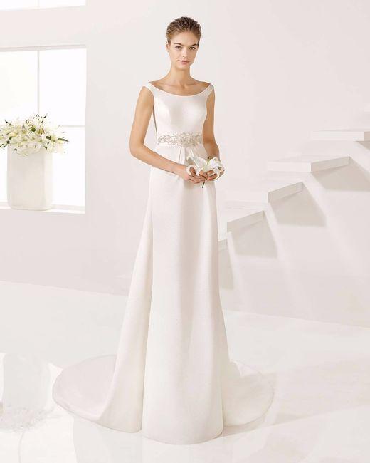 Vestido de novia para mujer baja y delgada