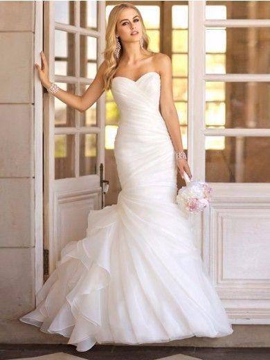Vestidos de novia sirena trompeta