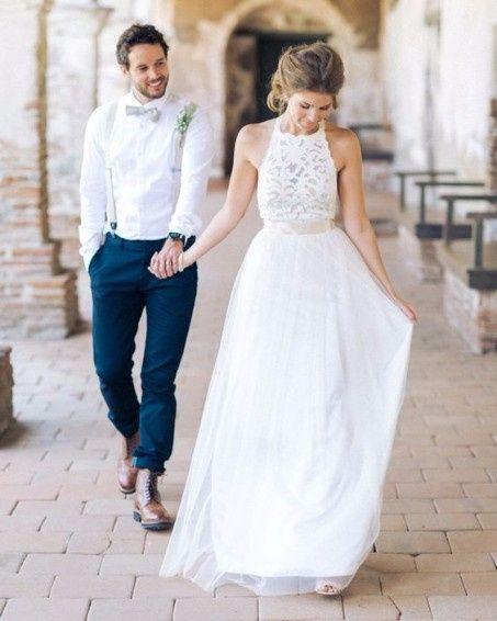 vestido de novio casual