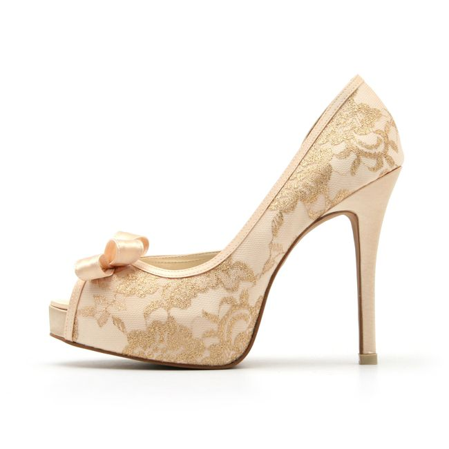 champagne color wedding shoes zapatos de novia color champagne 2539