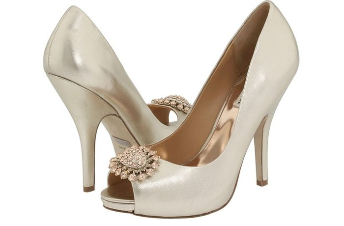 zapatos de novia color champagne
