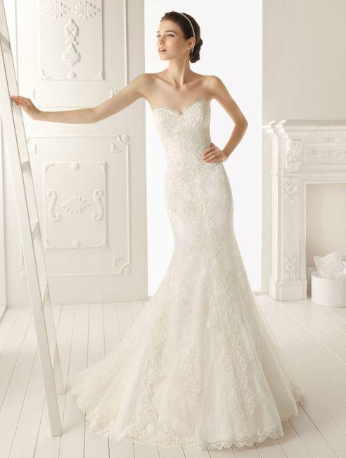 Corte a en vestidos de novia