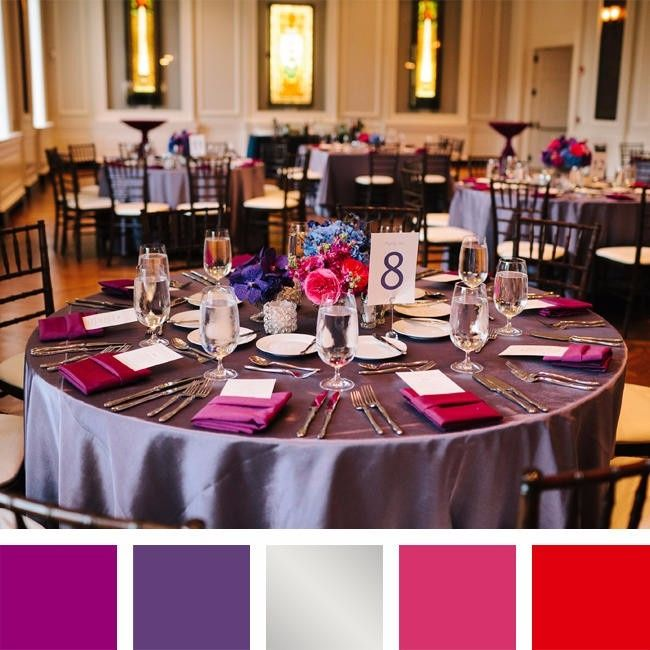 4 paletas de colores para un matrimonio en la noche
