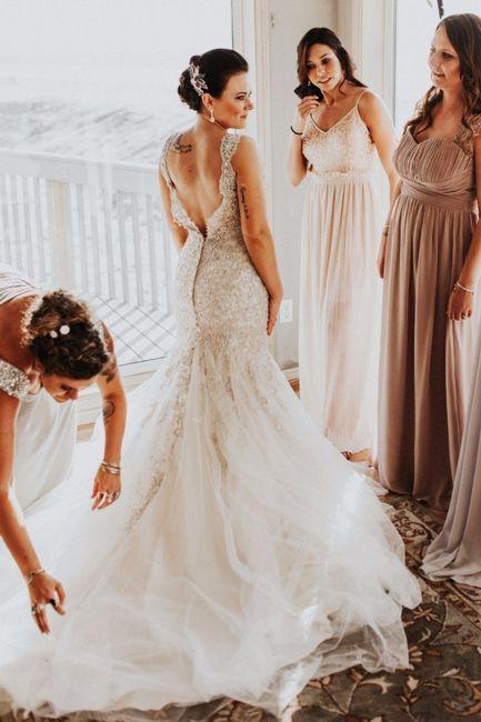 tenés tatuajes? ¿los vas a mostrar con tu vestido de novia?