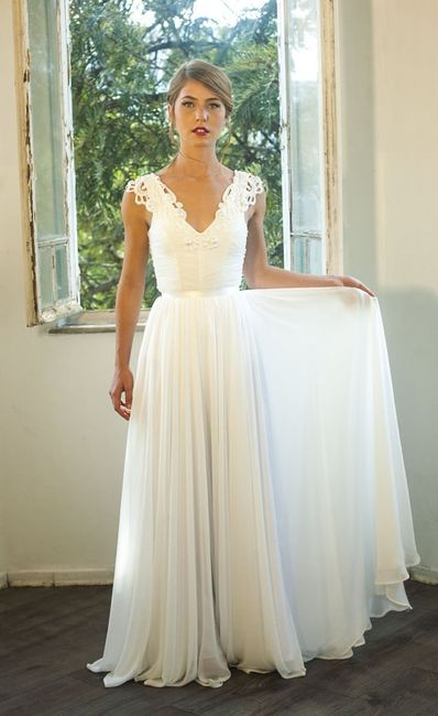 Vestido bohemio de novia