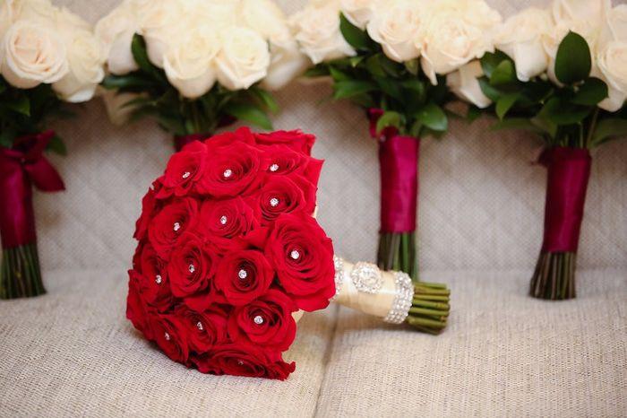 Ramos de novia en color rojo para tu da M