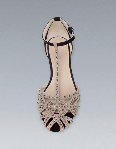 elegante y elegante mejor lugar para zapatos de otoño Sandalias bajitas para novias