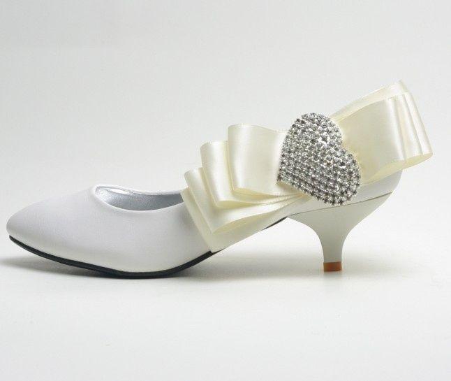 zapatos para novias con tacón bajo