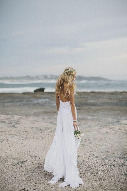 Vestidos de novio para matrimonio en la playa