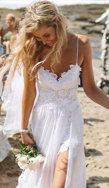 vestidos de novia para matrimonio en la playa